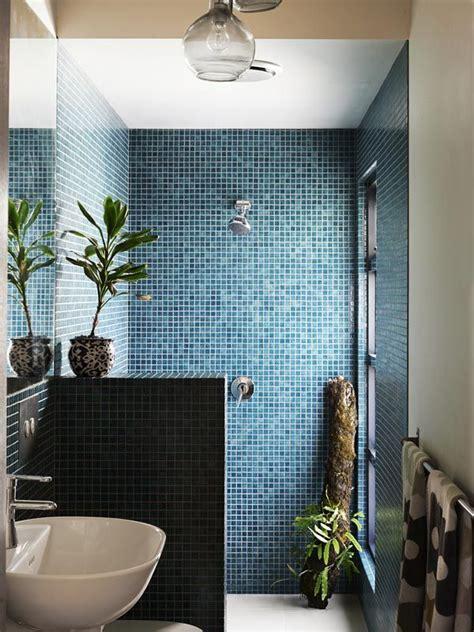 blue shower tile ideas  pictures