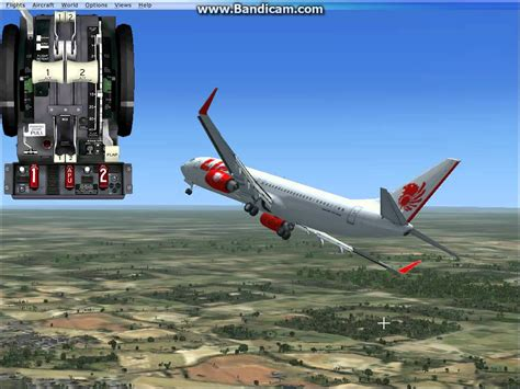 airasia vs lion air doovi fsx boeing 737 800 lion air fly jakarta to pontianak avi