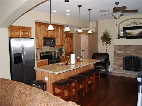 basement kitchen basement decorating ideas around a pole