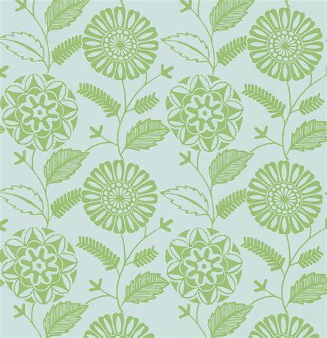resort green modern floral wallpaper contemporary