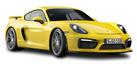 yellow porsche png yellow porsche cayman gt4 car png image pngpix