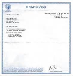 Business License Template by About Kevin And The Toolbox