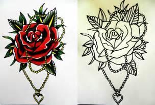 call me conboy traditonal rose tattoo design
