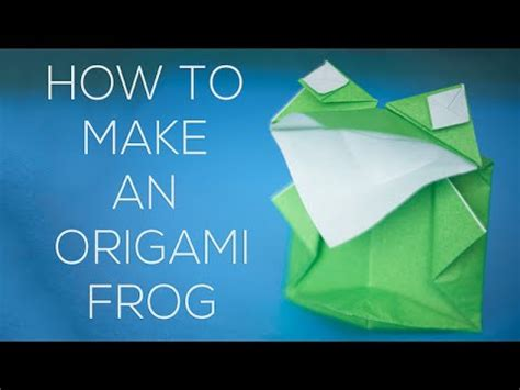 Origami Talking Frog - how to make an origami frog