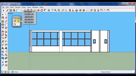 como criar layout no sketchup como fazer cortes no sketchup youtube