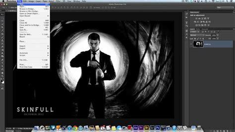 photoshop tutorial james bond photoshop technique how to make the james bond gun barrel