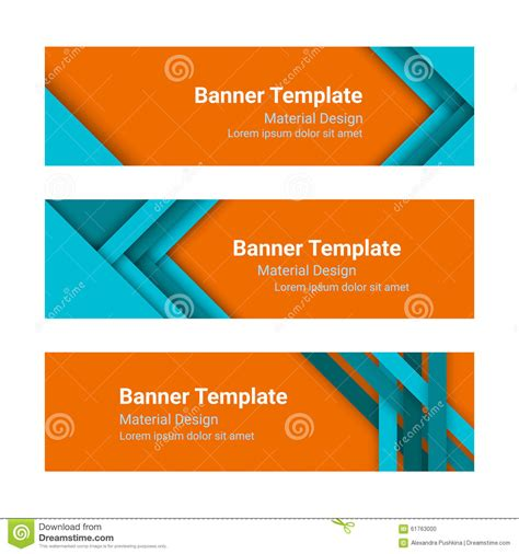 hairstyle banner design set of modern colorful horizontal vector banners in a