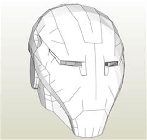 Papercraft Template For The Flash Zoom Cowl Pepakura Pdo Files Pinterest Papercraft Iron Helmet Template Pdf