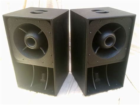 Horn Mid High orbit 4s 3 way horn loaded mid high speakers compact coax black new ebay