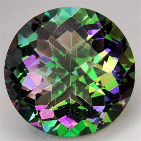 large mystic topaz gemstone large circle cut