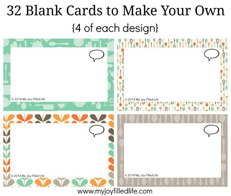make your own card template blank printable family dinner conversation starters cards my