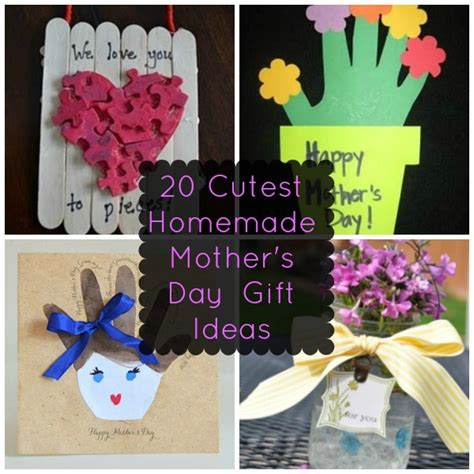 Handmade Mothers Day Presents - 20 of the cutest s day gift ideas