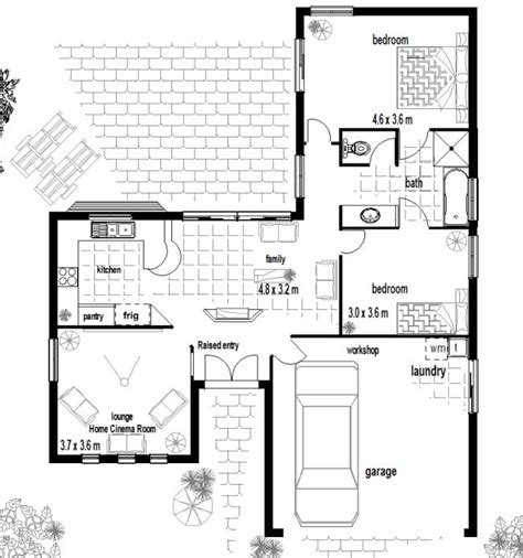 Cheap Floor Plans by Australian House Plans 1 Storey House Plans 2 Bedroom