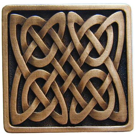 Celtic Cabinet Hardware by Nouveau Collection 1 3 8 Wide Celtic Isles Square