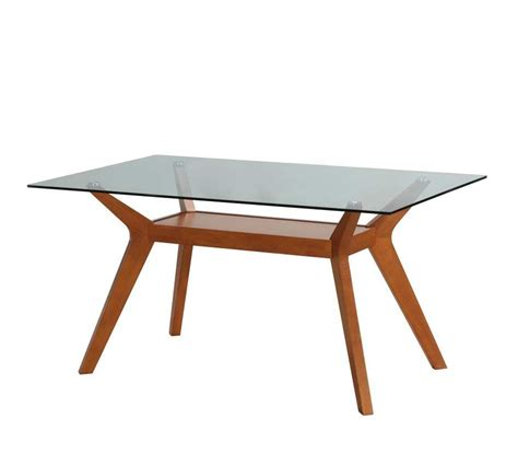 glass table top bay area nutmeg dining table patsy co171 modern dining