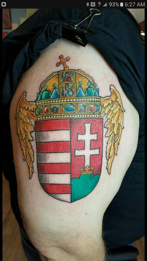 hungarian tattoos hungarian coat of arms arm