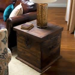 Steamer Trunk Desk Furniture Unique Trunk End Table Design For Home