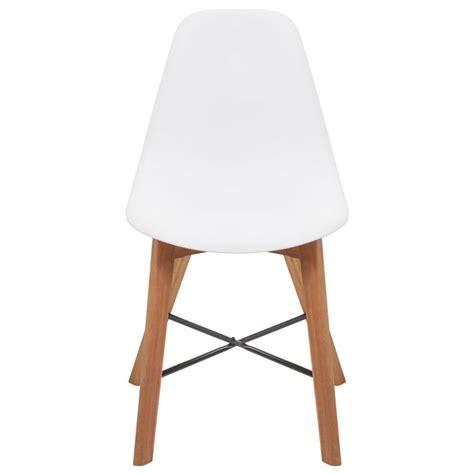 Dining Chairs 4 Vidaxl Dining Chairs 4 Pcs Acacia Wood White Vidaxl Co Uk