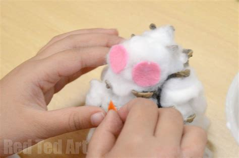 Tippytoe Crafts Pine Cone Snowy Owls - pine cone crafts snowy owls ted s