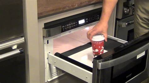 Kitchen Island Microwave sharp microwave drawer youtube