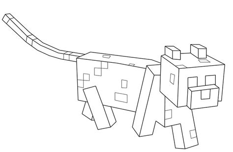 Minecraft Ocelot Coloring Pages minecraft coloring pages to and print for free