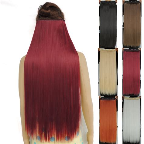 synthetic hair extensions clip in 120g 28 inch clip in hair extensions