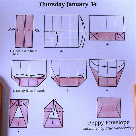 How To Make An Envelope Out Of Paper - peppy envelope origami book origami