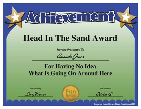 And The Award Does Not Go To by The World S Catalog Of Ideas