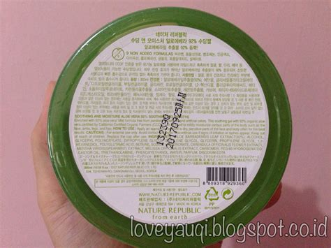Nature Republic Aloe Vera Soothing Gel Bagus review naturerepublic aloe vera 92 soothing gel