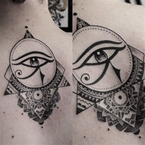 egyptian tattoo geometric fancy horus eye by dave domus santos ink d