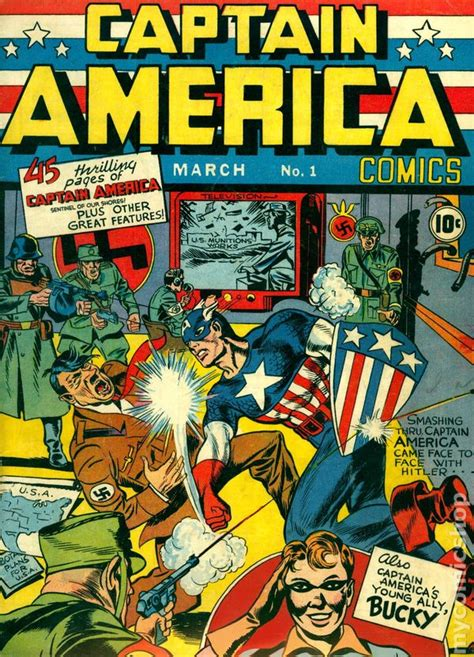 Captain America Comic Book captain america comics comic books issue 1 1941