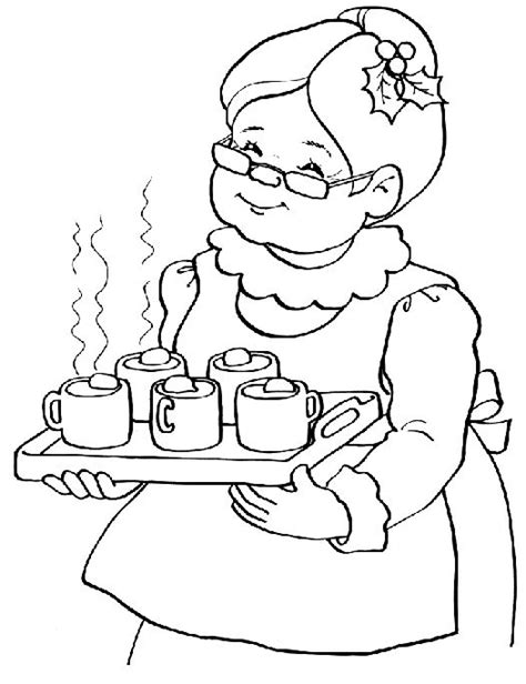 coloring pages of santa and mrs claus 17 images about mrs claus on pinterest workshop
