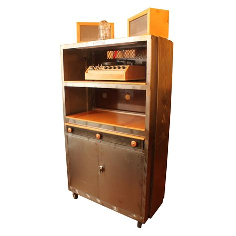 Industrial Bar Cabinet Vintage Machine Shop Cabinet Industrial Bar Audio Liquor Modernism