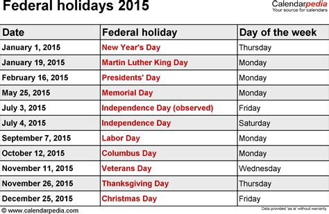 Calendar 2015 With Holidays United States 2015 2016 Calendar With