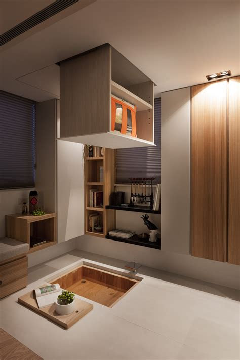 hidden storage ideas taipei home showcases asian minimalist influences