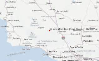 brush mountain kern county california mountain information