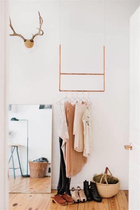 Diy Garment Rack by Small Space Solution 15 Diy Garment Racks Brit Co