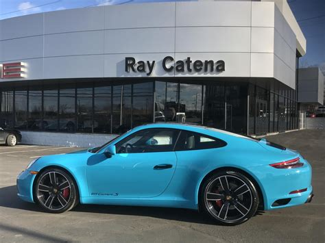miami blue porsche targa dealer inventory 2017 porsche 911 c2s coupe 7 speed manual