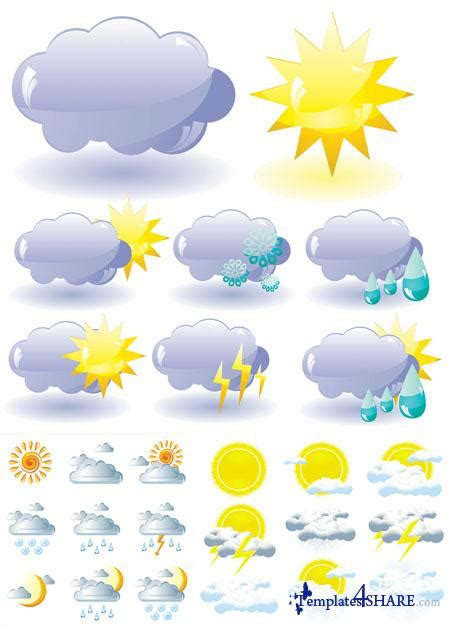 Weather Forecast Vector Icons 187 Templates4share Com Free Web Templates Themes And Graphic For Weather Graphics Template