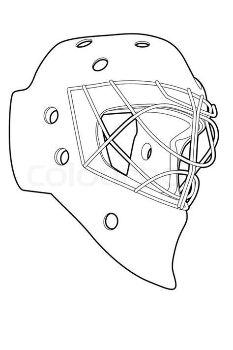hockey goalie mask template hockey mask vector colourbox