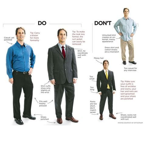 do s and don t s for business professional attire