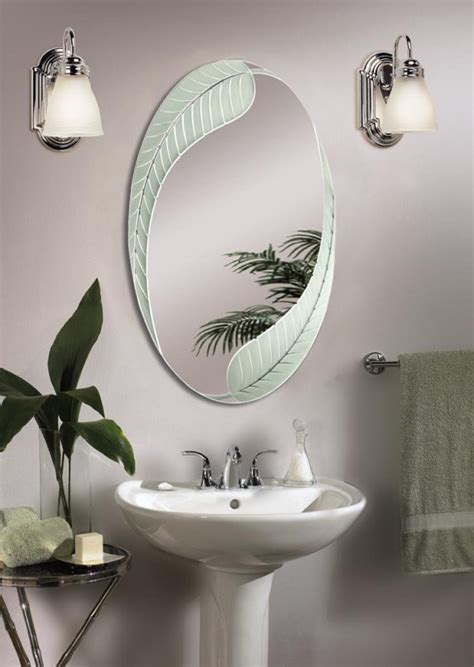 beautiful and unique bathroom mirrors decozilla brushed nickel bathroom mirror as sweet wall decoration