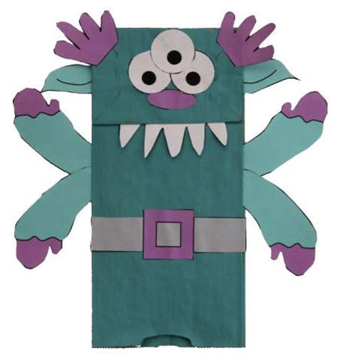 Paper Craft Bags - 25 unique paper bag puppets ideas on paper