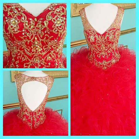 quinceanera themes ideas 2015 2015 red quinceanera dresses real pictures v neck beaded