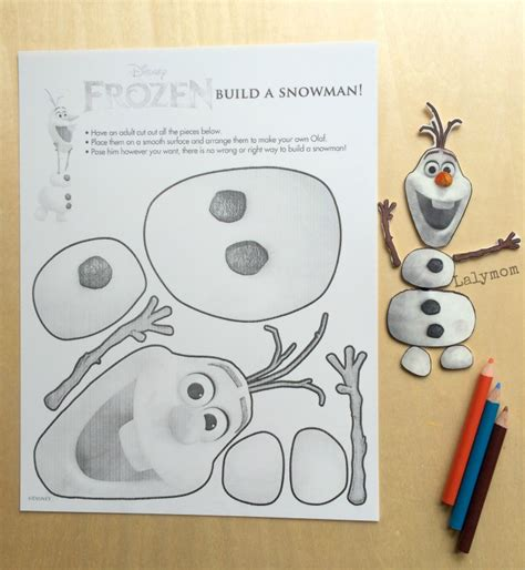 printable make olaf frozen olaf craft jointed olaf figure frozen printable