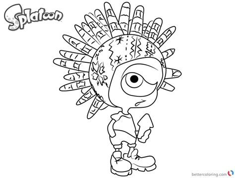 Splatoon 2 Coloring Pages by Splatoon Coloring Pages Murch From Splatoon 2 Free