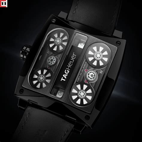 Tagheuer Monaco V4 Black look tag heuer monaco v4 tourbillon the home of