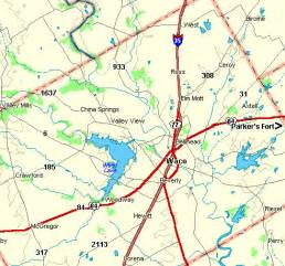 map of mclennan county fort tours mclennan county