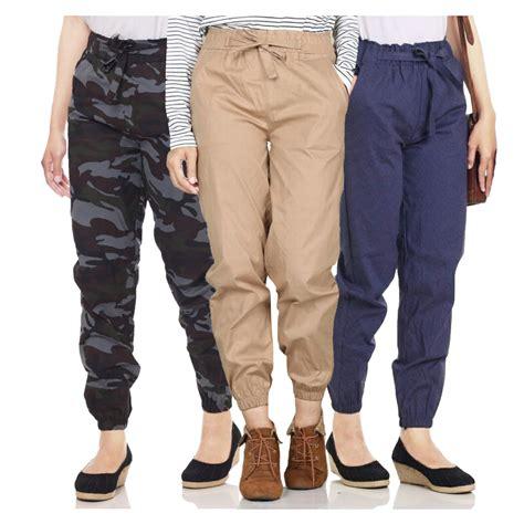 koleksi celana jogger wanita banyak warna elevenia