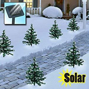 16 in solar powered christmas tree for cematery solar trees landscape path lights patio lawn garden